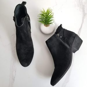 VINCE CAMUTO Tricera Ankle Booties Black Suede